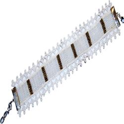 Bracelet manchette Blanc Or TDN 18200274