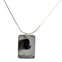 Pendentif Béton Perle noire TDN 18022041